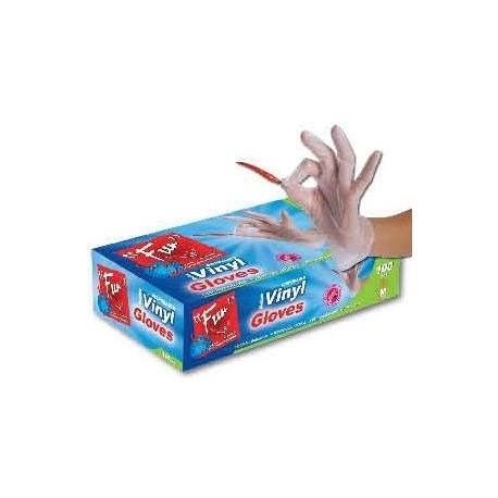 Fun 100 Disposable Vinyl Gloves Medium