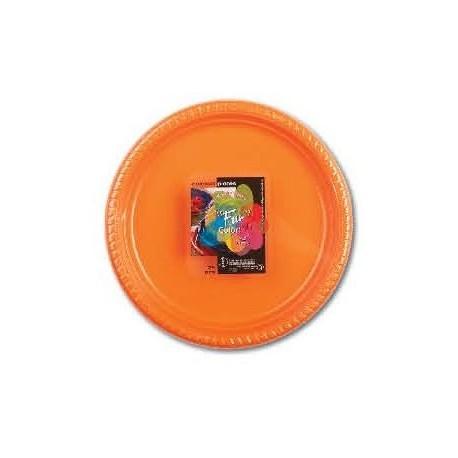 Fun 25 Citrus Colored Plastic Plates 22cm