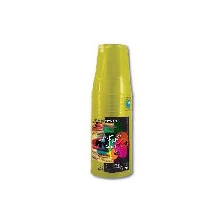 Fun 25 Olive Clear Plastic Tumblers 235ml