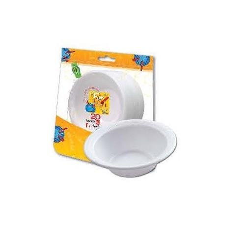 Fun 20 Disposable Foam Bowls 12oz