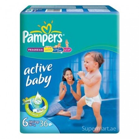 Pampers ActiveBaby6 Large XXL 15+kg, 36 Diapers