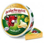 LaVachequirit 8 Portion Triangle Cheese with Green Olives