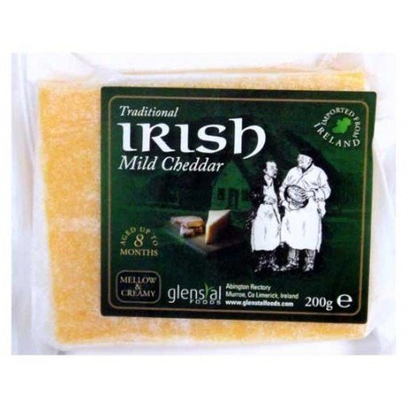 Glenstal Irish Mild Cheddar Coloured 200g
