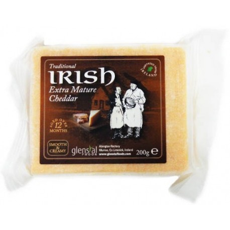 Glenstal Irish Extra Mature Coloured Cheddar 200g