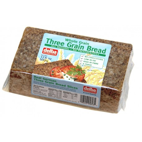 Delba Three Grain Bread 500g
