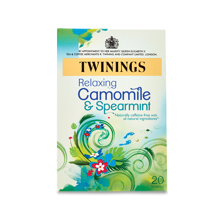Twinings Relaxing Camomile & Spearmint Tea Bags 20