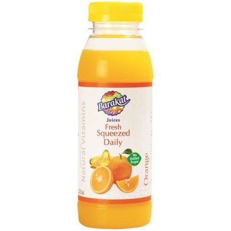 Barakat Fresh Squeezed Daily Orange Juice 200ml