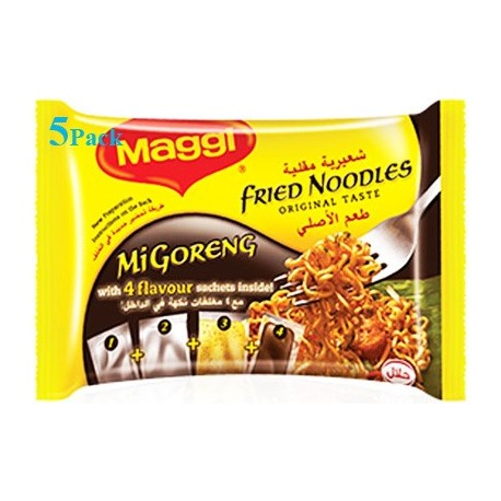 Maggi Fried Noodles Mi Goreng With 4 Flavour Sachets 5x72g