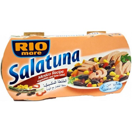 Rio Mare Salatuna Mexico Recipe in Vegetables and Tuna Salad 2x160g