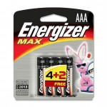Energizer Max AAA 4+2 Free Battery