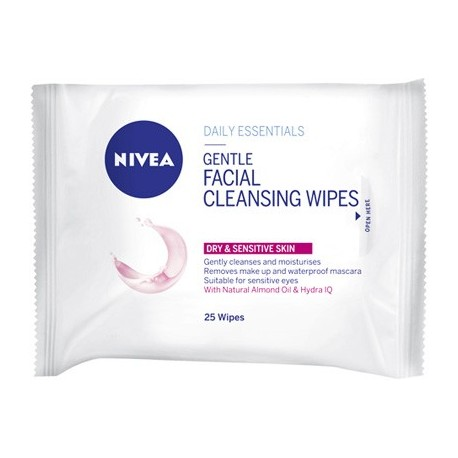 Nivea Cleansing Wipes Dry to Sensitive Skin
