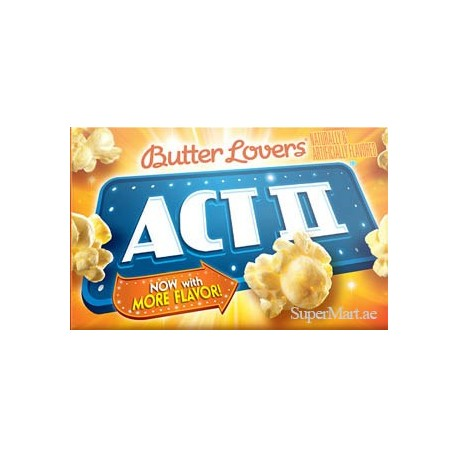 Act II Popcorn Butter Lovers 255g
