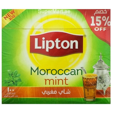 Lipton Moroccan Mint Tea Bag 100 From Supermart Ae