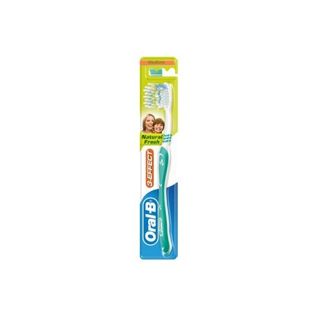 Oral B 3-Effect Natural Fresh Medium Toothbrush