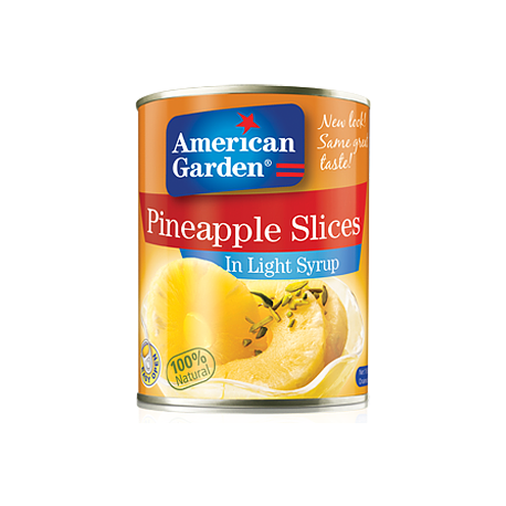 American Garden Pineapple Slices in Light Syrup 490g