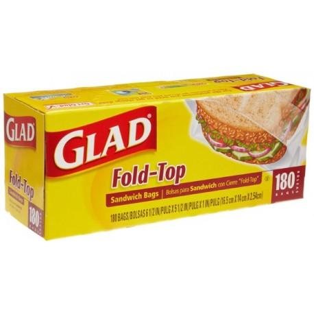 Glad Sandwich Fold-Top 180bags 14cmx16.5cm