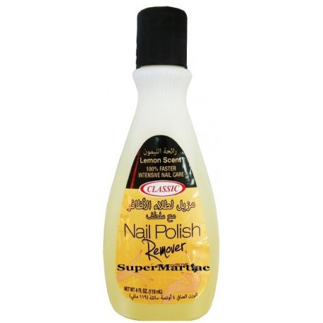 Classic Nail polish Remover Lemon Scent 119ml