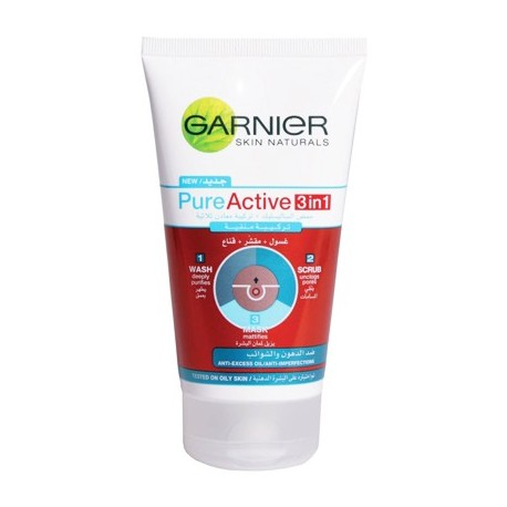 Garnier Skin Naturals Pure Active 3in1 Face Wash 150ml