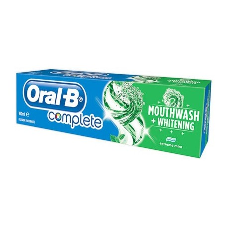 Oral B Complete Mouthwash+Whitening Toothpaste 100ml
