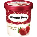 Haagen-Dazs Ice Cream Strawberries & Cream 500ml