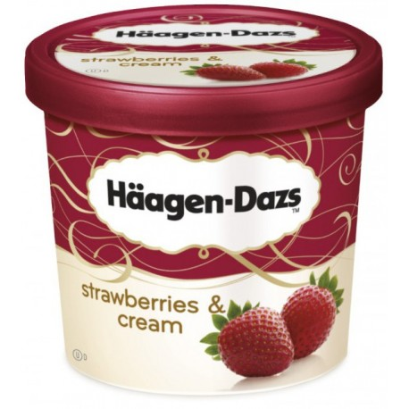 Haagen Dazs Ice Cream Strawberries & Cream 100ml