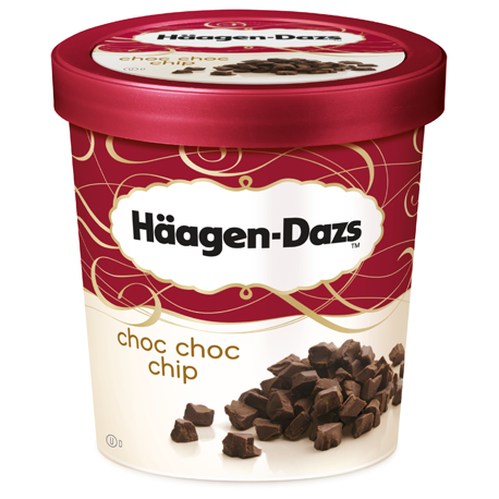 Haagen -Dazs Ice Cream Choc Choc Chip 500ml