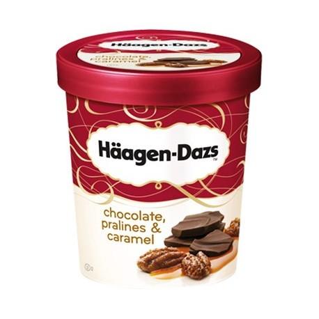 Haagen- Dazs Ice Cream Chocolate Pralines & Caramel 500ml
