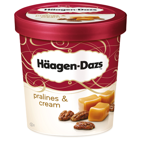 Haagen -Dazs ice cream Pralines & Cream 100ml