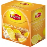 Lipton Black Tea Lemon Ginger 15 Teabags