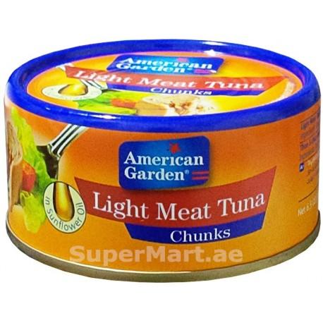 American Garden Light Meat Tuna Chunks in Sunflower Oil 185g