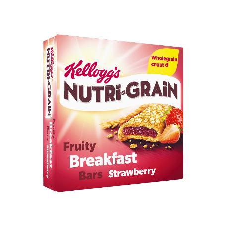 Kellogg's Nutri-Grain Fruity Breakfast Bars Strawberry 6x37g