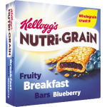Kellogg's Nutri-Grain Fruity Breakfast Bars Blueberry 6x37g