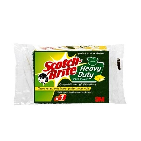 Scotch Brite Heavy Duty Comfort Nailsaver Washing Sponge 2+1 Free