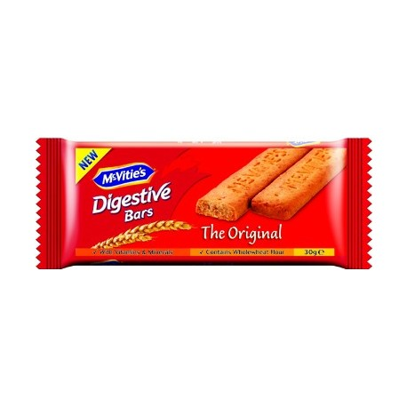McVities Digestive Original Bars 30g