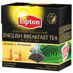 Lipton Discovery Collection English Breakfast Black Tea 15 Pyramid Teabags