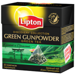 Lipton Discovery Collection Green Gunpowder 15 Pyramid Teabgas