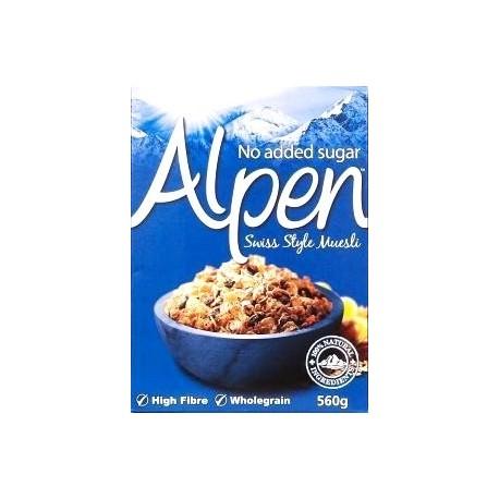 Alpen No Added Sugar Swiss Style Muesli 560g