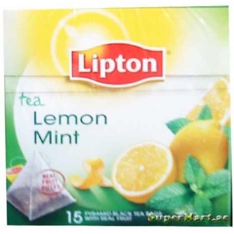 Lipton Black Tea Lemon Mint 15 Tea Bags
