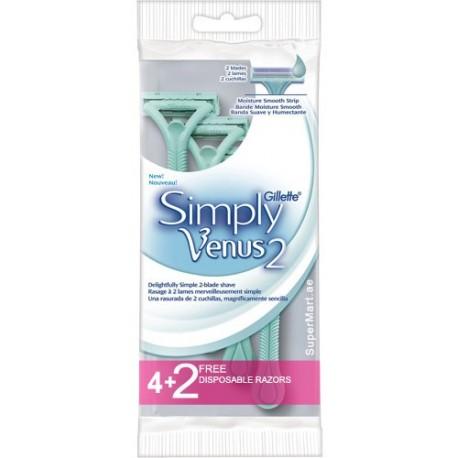 Gillette Simply Venus 2 4+2 Disposable Razors