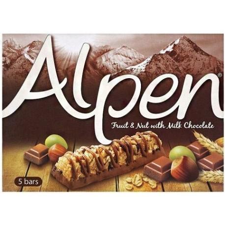 Alpen Fruit & Nut with Milk Chocolate Bars 5X29g