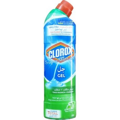 Clorox Gel Thick Bleach+Cleaner Mint Freshness 750ml