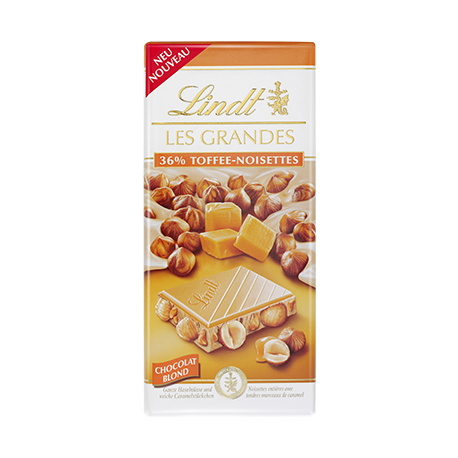 Lindt Les Grandes 36% Toffee-Hazelnuts White Caramel Chocolates 150g
