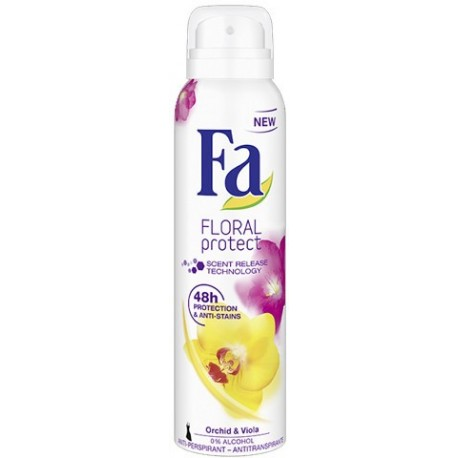 Fa Floral Protect Orchid & Viola Deodorant Spray 200ml