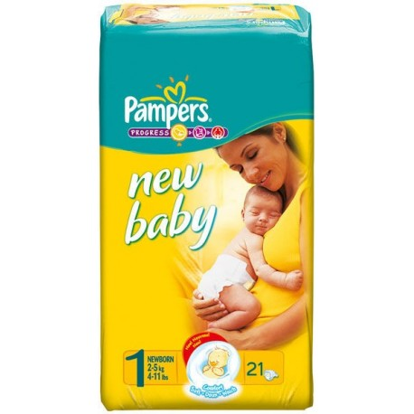 Pampers Newborn1, 2-5 kg, 21 Diapers