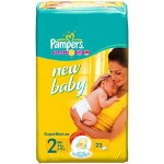 Pampers NewBaby2, Small 3-6 kg, 23 Diapers