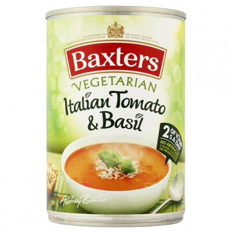 Baxters Vegetarian Italian Tomato & Basil Soup 400g