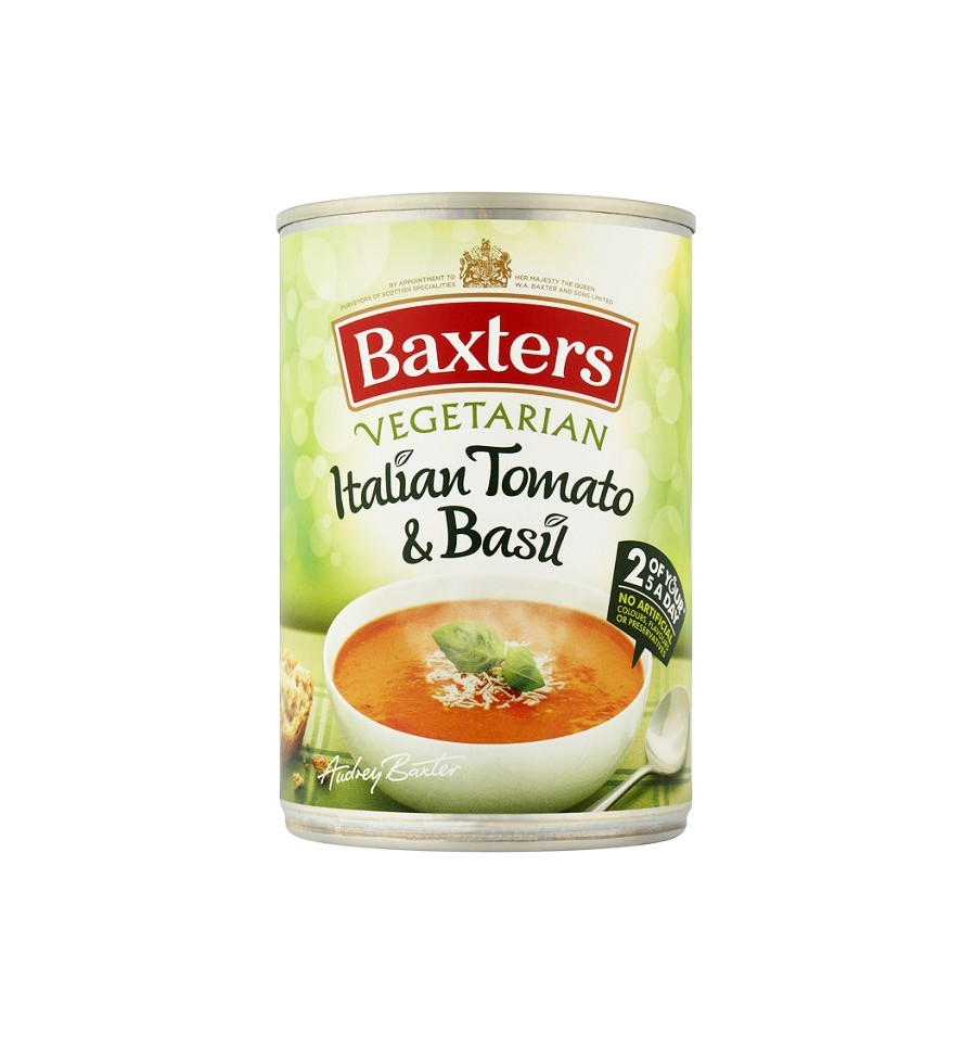 Baxters Vegetarian Italian Tomato & Basil Soup 400g from ...