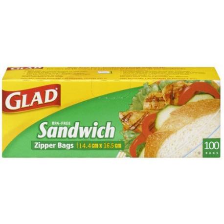 Glad Sandwich Zipper 100 Bags