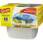Glad Soup & Salad 5 Containers & Lids