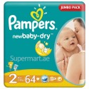 Pampers NewBaby-Dry 2, Small 3-6 kg, 64 Diapers